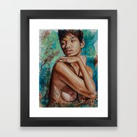 Colorful Whispers of Introspection Framed Art Print