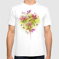 Fleur Tree Mens Fitted Tee White SMALL
