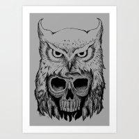 Owlskull Art Print