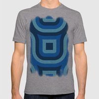 Blue Truchet Pattern Mens Fitted Tee Athletic Grey SMALL