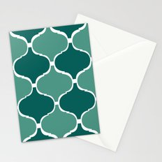 Marrakech Pattern Dark Green Stationery Cards