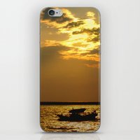 Fishing Boat Returns At … iPhone & iPod Skin