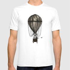 The Great Traveller Sending Paperplanes Mens Fitted Tee White SMALL