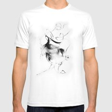 Line 5 SMALL White Mens Fitted Tee