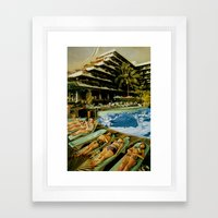 Club Sled Framed Art Print