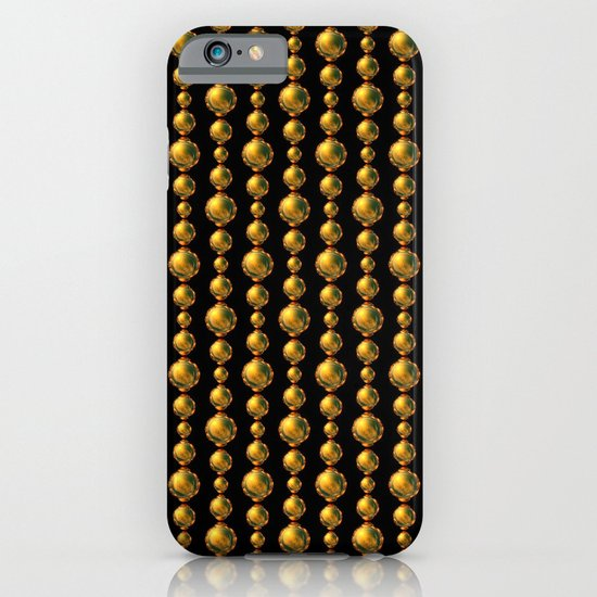 Bead Pattern, Gold & Black iPhone & iPod Case