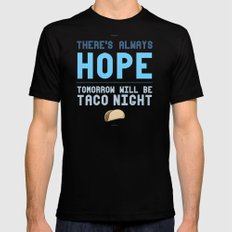 There's Always Hope... Mens Fitted Tee Black SMALL