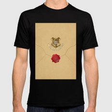 Hogwarts Envelope Mens Fitted Tee Black SMALL