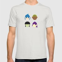Famous Capsules - Gorillaz Mens Fitted Tee Silver SMALL
