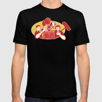 Film Director Movie Camera Clapper Soundman Mens Fitted Tee Black SMALL
