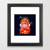 Fire Monkey Year Framed Art Print