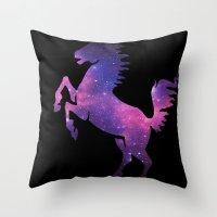 SPACE HORSE Throw Pillow