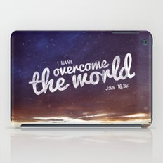 HE has overcome the world iPad Case