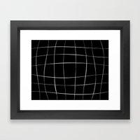 WO black Framed Art Print