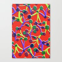 Orange floral. Canvas Print