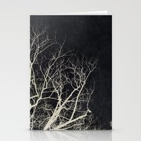 2 Trees Black Stationery Cards
