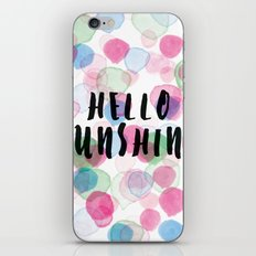 Hello Sunshine iPhone & iPod Skin