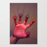 Your Hand, As The Creati… Canvas Print