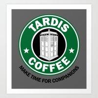 Tardis Coffee Art Print