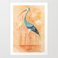 An Exotic Stork Art Print