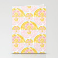 Light Colored Pattern Stationery Cards