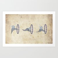 Jumping through hoops! Art Print
