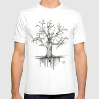 Winter Tree Mens Fitted Tee White SMALL
