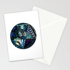 Blue Toned Pentagram Stationery Cards