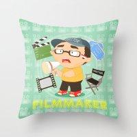 Filmmarker Throw Pillow