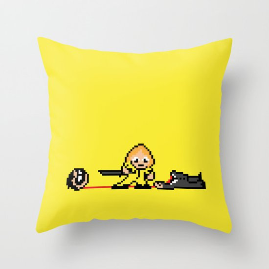 Kill Pixel Bill  Throw Pillow