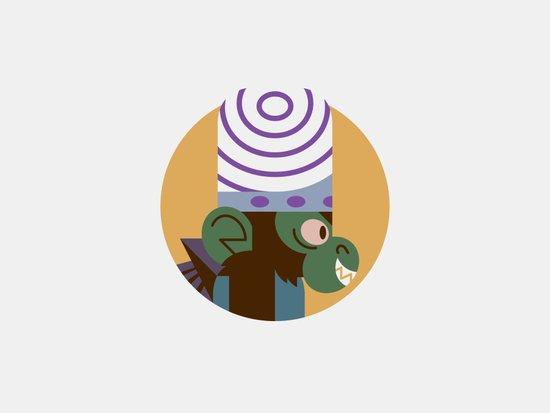 Mojo Jojo profile Art Print