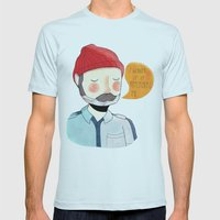 I Wonder If It Remembers… Mens Fitted Tee Light Blue SMALL