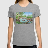 River  Womens Fitted Tee Tri-Grey SMALL