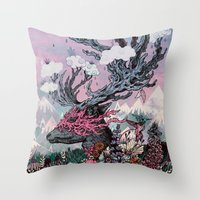 Journeying Spirit (deer)… Throw Pillow