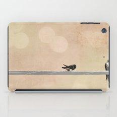 2 birds on a wire peach iPad Case