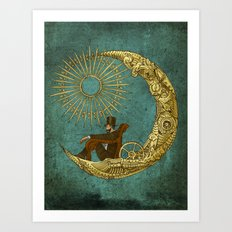 Moon Travel Art Print