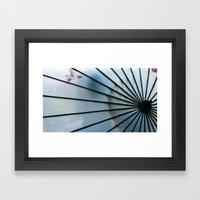 BLUE CHINA Framed Art Print