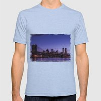 Brooklyn Bridge Mens Fitted Tee Athletic Blue SMALL