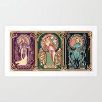 Nintendo Nouveau (art print) Art Print