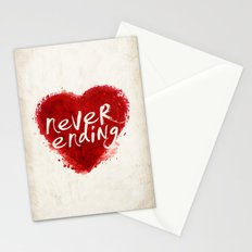 never ending love Stationery Cards
