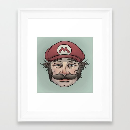 It'sa Me! Mario! Framed Art Print