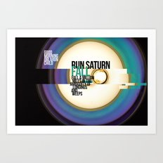 Run Saturn Fall Art Print