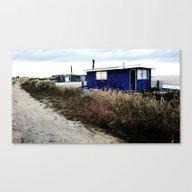 Beach House At Kaka Poin… Canvas Print
