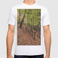 Steps Through Autumnal W… Mens Fitted Tee Ash Grey SMALL