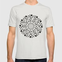 Circle of Witchery Mens Fitted Tee Silver SMALL