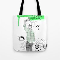 Neon Green Tote Bag