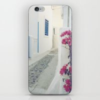 White Santorini Street iPhone & iPod Skin