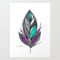Harvest Feather 2 Art Print