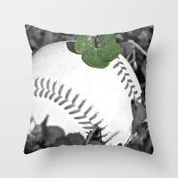 Baseball Lucky Throw Pillow