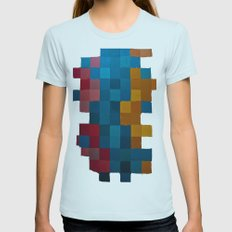 color Womens Fitted Tee Light Blue SMALL